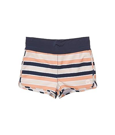 Roxy Kids Made for Roxy Boardshorts (Big Kids) (Cadmium Orange Pong Stripes) Girl