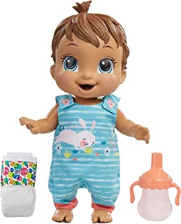 Baby Alive Baby Gotta Bounce Doll, Bunny Outfit, Bounces with 25+ SFX and Giggles, Drinks and Wets, Brown Hair Toy for Kid...