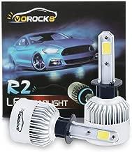 VoRock8 R2 COB H1 8000LM Led Headlight Conversion Kit, High Beam Bulb, Low Beam Headlamp, Fog Driving Light, Halogen Head Light Replacement, 6500K Xenon White, 1 Pair