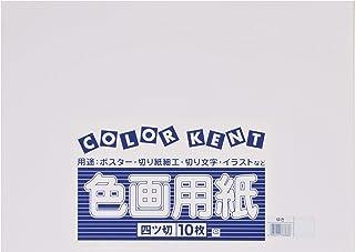 大王製紙 画用紙 再生 色画用紙 四ツ切サイズ 10枚入 ゆき(雪)