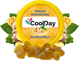 COOLDAY Natural Drops Instant Relief – Sugar Free Ginger & Propolis Natural Flavor Lozenges -100 Years of Constant Researc...
