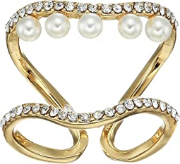 Double Row Pearl Ring