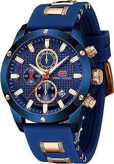 Sponsored Ad - Mens Watch, MINI FOCUS Waterproof Wrist Watch for Men, Analog Quartz Silicone Sport Chronograph, Big Face B...