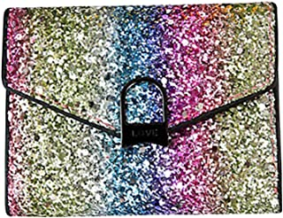 OULII Women Bling Wallet Sequin Purse Evening Handbag Sparkly Clutch Bag (Semi-circle Lock)