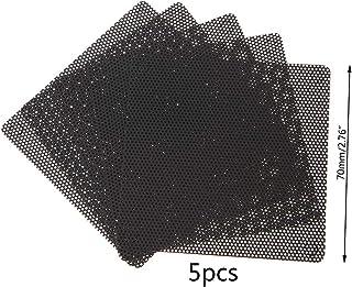 Anjuley - 5 filtros de Polvo para Ventilador de PC (PVC, Carcasa Resistente al Polvo, cortables, 70 mm)