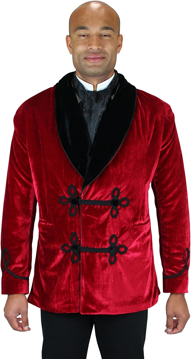 Image result for Historical Emporium Men's Vintage Velvet Smoking Jacket