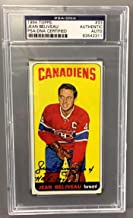 Jean Beliveau Signed Topps 1964 Montreal Canadiens Card #33 Rare Sp - PSA/DNA Certified - 5