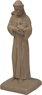"""EMSCO Group Saint Francis Statue – Natural Sandstone Appearance – Made of Resin – Lightweight – 29"""" Height"""