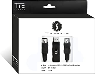 TIE Studio USB Mid Cable (6.5' Long) Professional Interface Adapter | PC, Laptop, Mac Connector for Piano, Keyboard, Musical Instruments | Home Studio Plug and Play