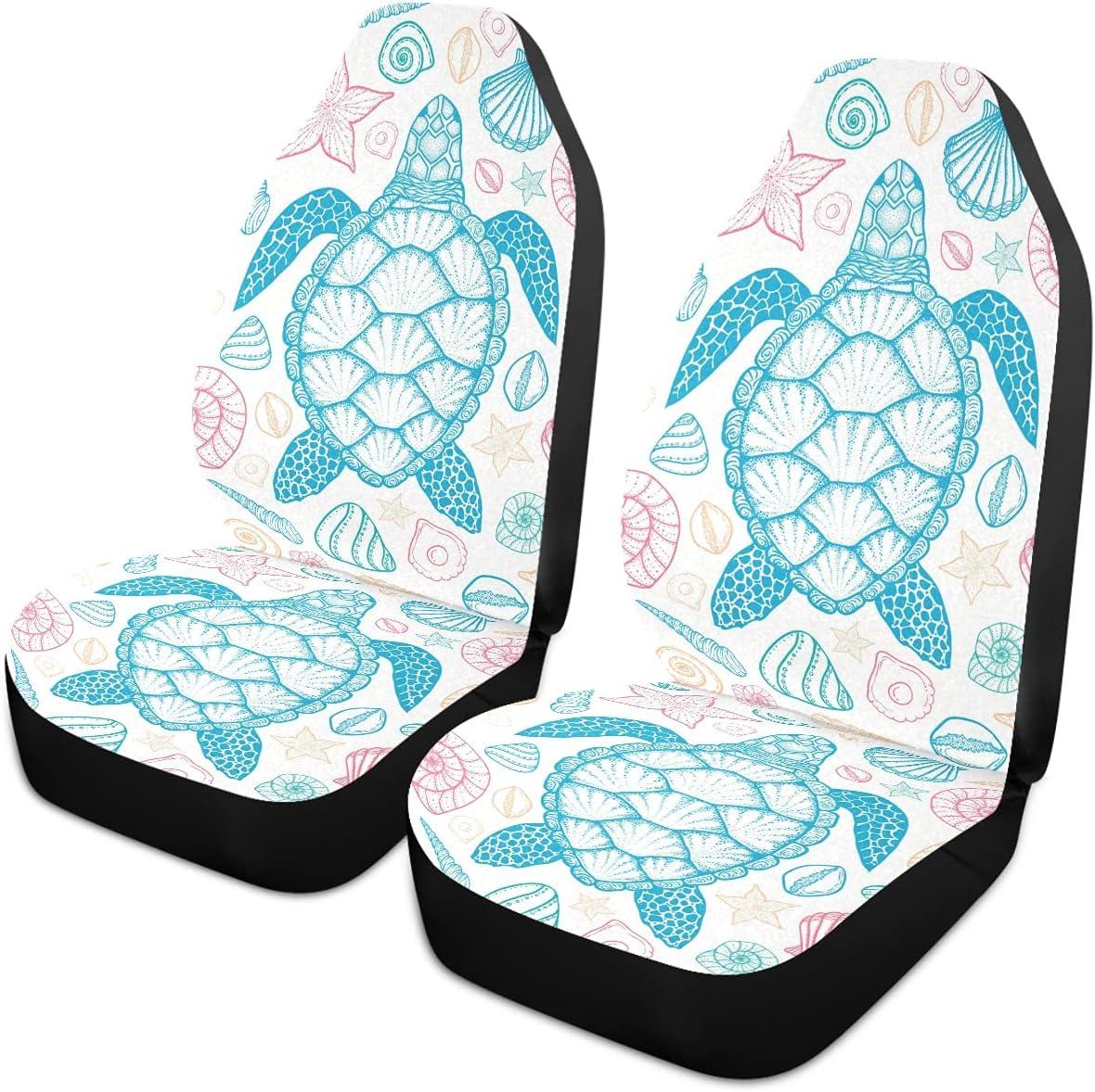 Oarencol Sea Turtle Seashells Summer Car Universal Seat Covers A Special Campaign Cheap sale