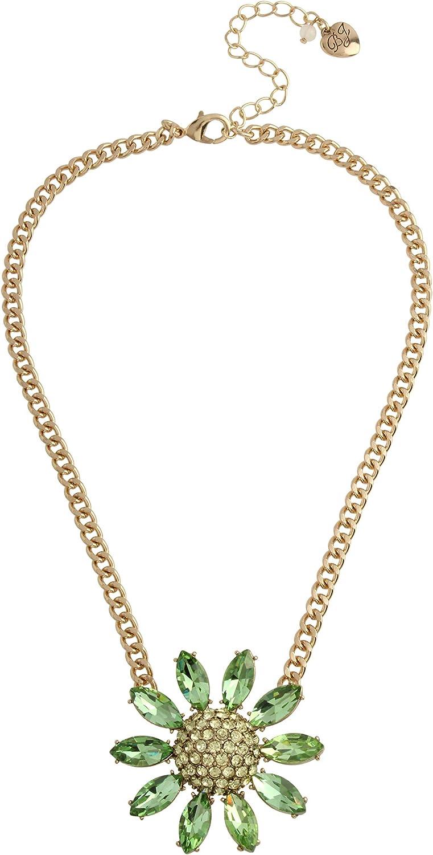 Betsey Johnson Flower Short Pendant Necklace
