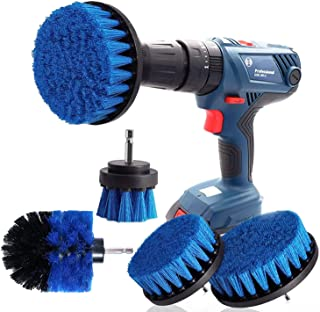 Zestaw do czyszczenia szyb samochodowych, płytki i dywanów, 4 sztuki, kolor niebieski