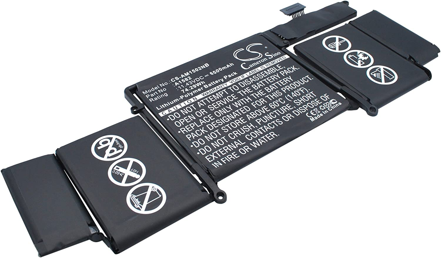 6500mAh Battery Replacement Fresno Mall for Now free shipping Applee MF841LL MacBo MF839LL A