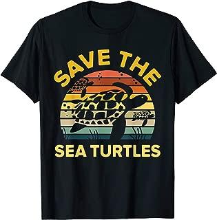Save Sea Turtle Lover Shirt Vintage Skip a Straw Ocean Gift