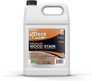 #1 Deck Premium Semi-Transparent Wood Stain for Decks, Fences, Siding - 1 Gallon (Natural)