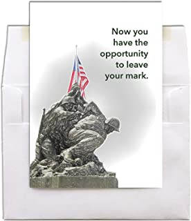 Iwo Jima - US Marine Corps Greeting Card With Envelope - 5x7 - by 2MyHero