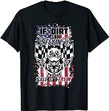Patriotic Dirt Track, Motocross & Stock Car Racing T-Shirt