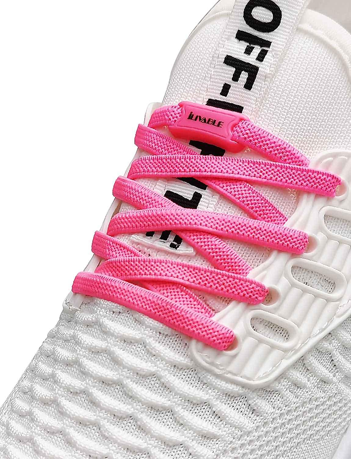 ILIVABLE Elastic No Tie Shoelaces for Kids and Adults, Elastic N
