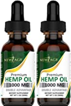 (2-Pack) Hemp Oil Extract for Pain & Stress Relief - 1000mg of Organic Hemp Extract - Grown & Made in USA - 100% Natural H...