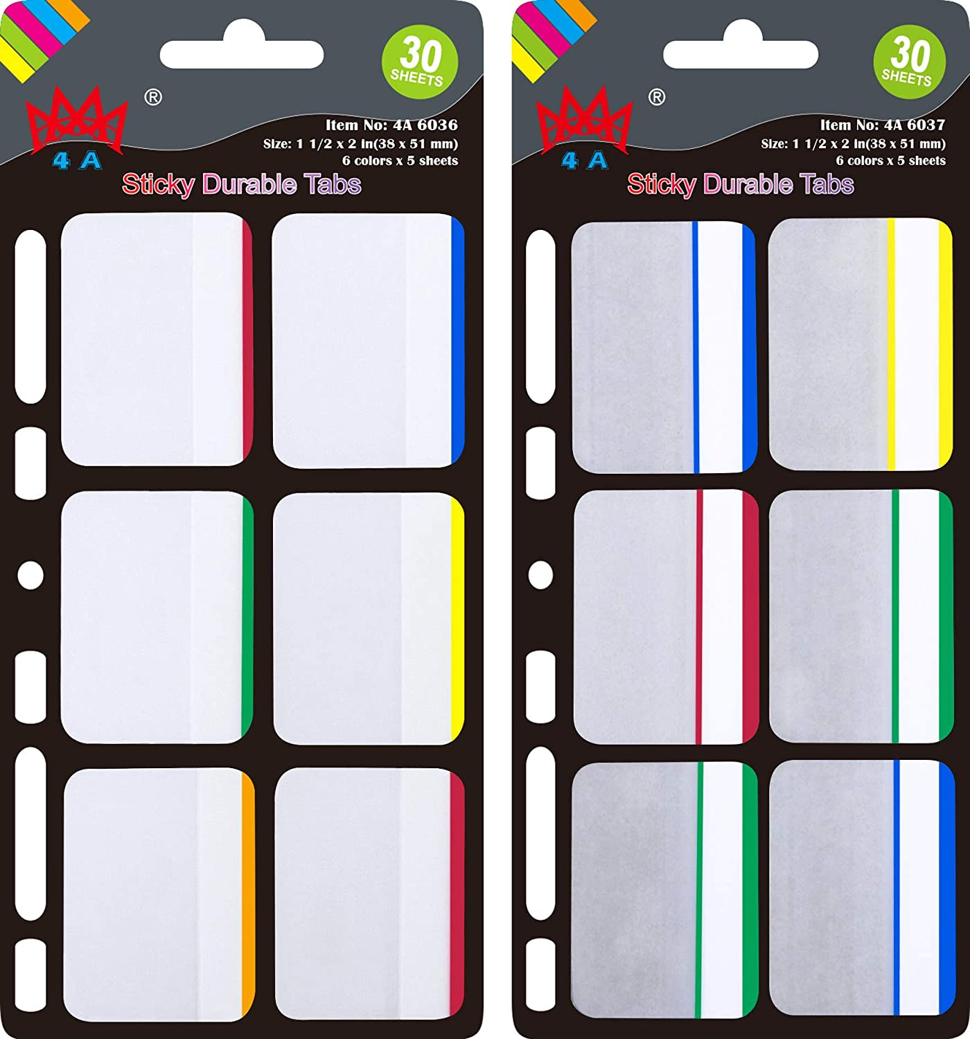 4A Durable File Tabs Divider Page Marker Milwaukee Mall Label Max 71% OFF Flags Index