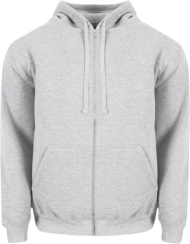 Fitscloth Fleece Sweatshirt Pullover Sweater - 80/20 Cotton Blend Soft Warm Long Sleeve Regular Big Size S~3XL