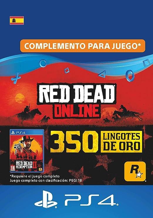 25 Lingotes De Oro En Red Dead Online 25 Lingotes De Oro Dlc Código De Descarga De Ps4 Cuenta Es Amazon Es Videojuegos