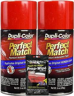 Dupli-Color Rallye Red (M) Exact-Match Automotive Paint - 8 oz, Bundles Prep Wipe (3 Items)