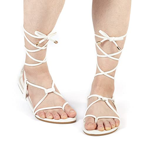 3155561cc16a DREAM PAIRS Women s Sammy Gladiator Lace Up Flat Sandals