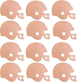 Creative Hobbies 4 Inch Unfinished Wooden Football Helmet Shapes, Pack of 12, Ready to Paint or Decorate