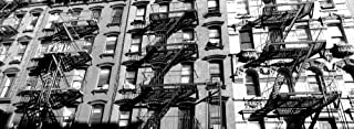 Panoramic Images – Low angle view of fire escapes on buildings Little Italy Manhattan New York City New York State USA Artistica di Stampa (33,02 x 91,44 cm)