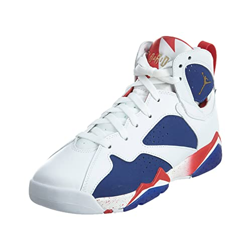 a19ce111cdf2 Nike Boys Air Jordan 7 Retro BG Tinker Alternate Olympics White MTLC Gld Cn-