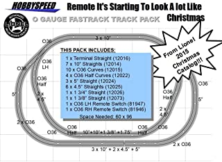 LIONEL O FASTRACK Starting to Look A LOT Like Christmas Track Layout w/Remote SWITCHES
