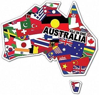 Australia All in One Multiculture Sticker