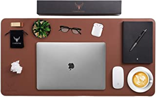ComfyCozy Leather Desk Pad and Pen Holder   Large Gaming Laptop PC Computer Non Slip Mouse Mat for Desks   Luxury Leather ...