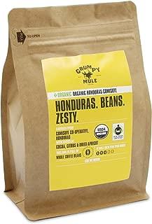 Grumpy Mule Organic Honduras Comisuyl Co-Operative Whole Bean Coffee - 12 oz (340 grams). Fair Trade Certified.