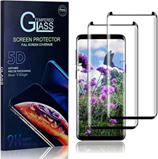 Bear Village Verre Trempé pour Galaxy S9, Dureté 9H Film Protection Écran Vitre, sans Bulles Protection en Verre Trempé Éc...