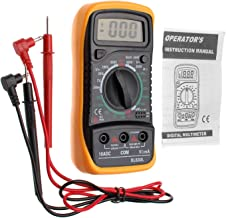 JZK XL830L multímetro digital, retroiluminación LCD, instrumento medición corriente, voltímetro AC/DC, Amperímetro DC, ohmímetro, diodos, triodo, fusible reajustable