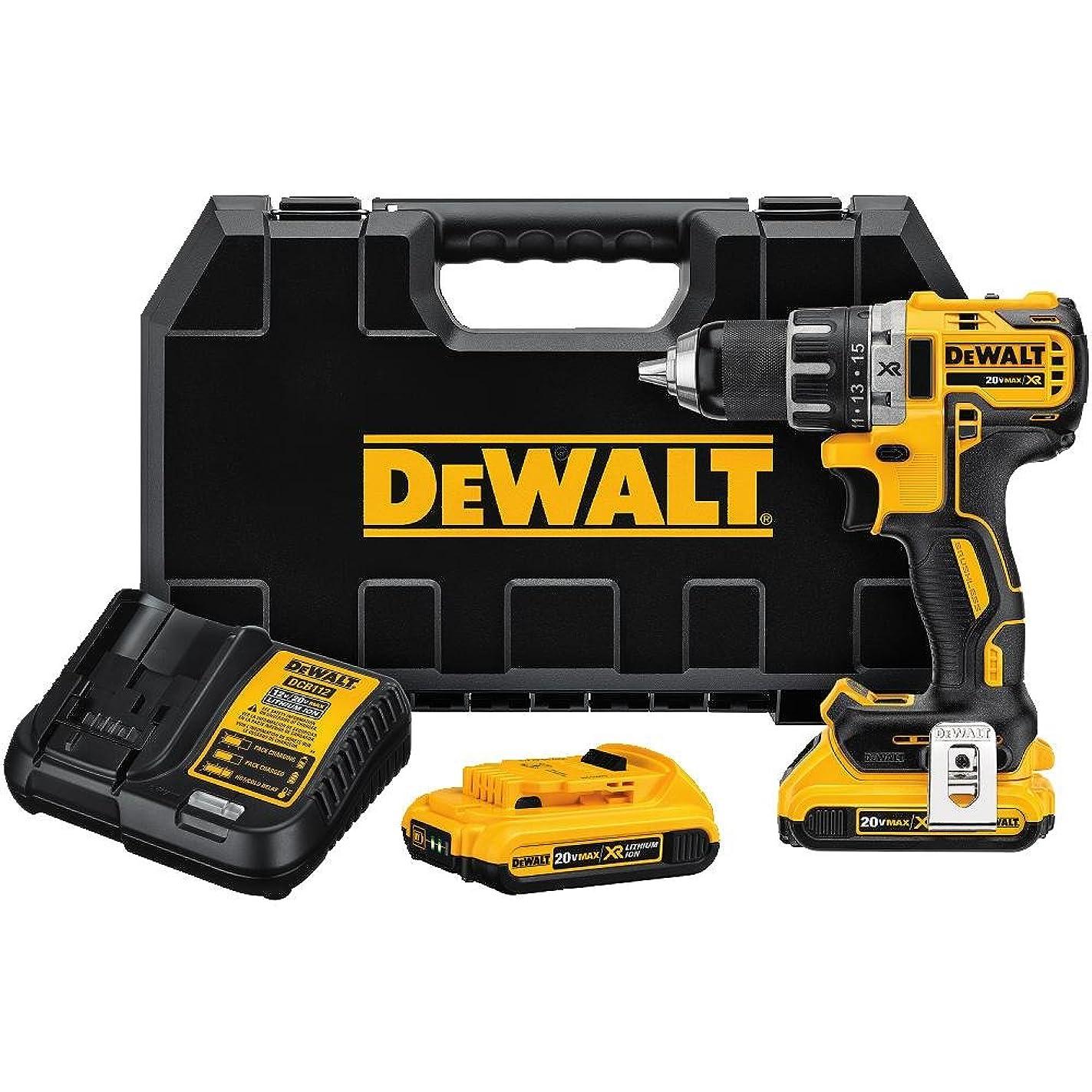 ジョブ気球本会議DEWALT DCD791D2 20V MAX XR Li-Ion 0.5 2.0Ah Brushless Compact Drill/Driver Kit by DEWALT
