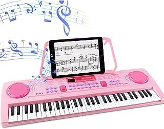 WOSTOO Electric Keyboard Piano for Kids-Portable 61 Key Electronic Musical Karaoke Keyboard, Learning Keyboard for Childre...