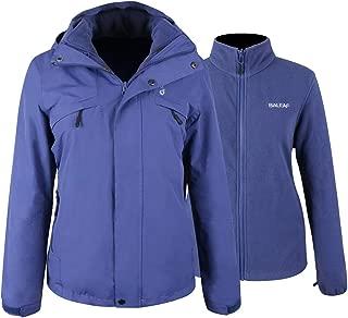 BALEAF Women's 3-in-1 Ski Jacket Waterproof/Windproof Snowboarding Coats with Fleece Liner Jacket Detachable Hooded