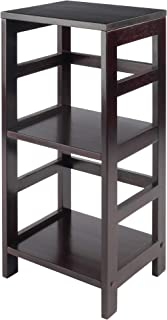 Winsome Wood Leo 2-Section Open Storage Shelf, Espresso Finish