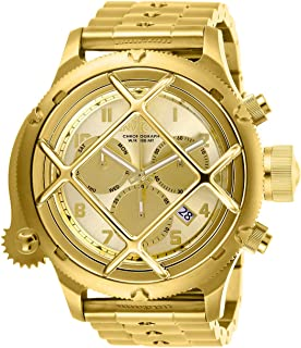 Invicta Men's Russian Diver Quartz Stainless-Steel Strap, Gold, 21 Casual Watch (Model: 26463)