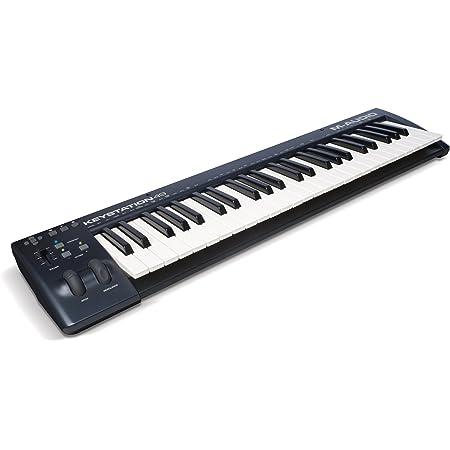 M-Audio Keystation 49 II - Teclado controlador USB-MIDI con teclas semicontrapesadas sensibles a la velocidad, color Azul