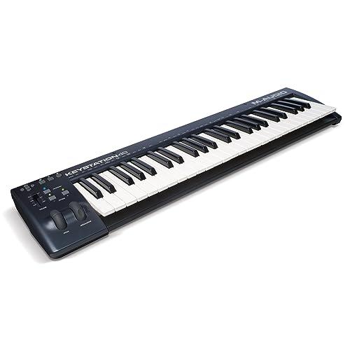 M-Audio Keystation 49 II - Teclado controlador USB-MIDI con teclas semicontrapesadas sensibles
