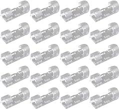 Futheda 20 stuks sterke zelfklevende kleine kabelclips kabeldruppel draadhouder, duurzame montage-ronde kunststof snoerbeh...