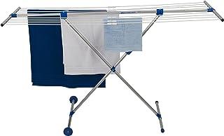 STEWI Combi Maxi Séchoir à Linge Aluminium Argent/Bleu 132 x 57 cm