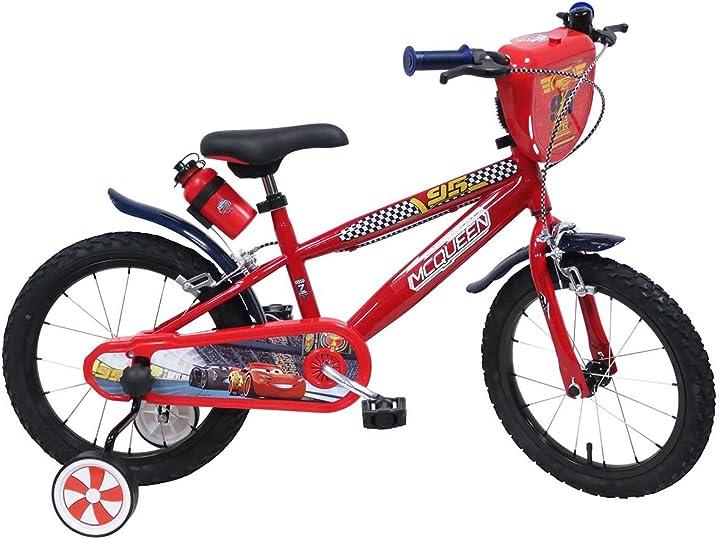 Bicicletta cars 3 disney 16 pollici - bicicletta con rotelle bambino DENVER BIKE_17202