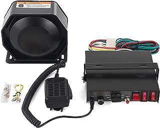 SHZOND Siren Bundle 200W 8 Tones Car Warning Alarm Emergency Warning Siren with PA Speaker MIC System for Police Cars & Fire Trucks (200W 8 Tones)