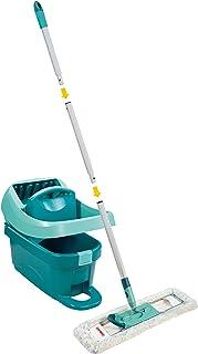 Leifheit Kit Profi XL Essore-housse avec lave-sol, seau et balai essoreur taille XL, kit de lavage sol avec mécanisme d'es...