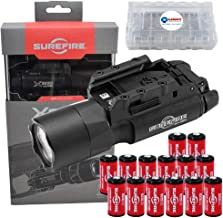 SureFire X300U-A Ultra High Output 1000 Lumens LED Weapon Lightwith 12 Extra CR123A Batteries and 3 Lightjunction Battery...